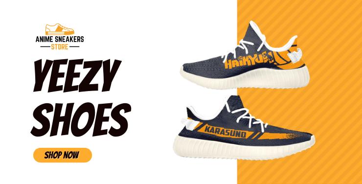 Custom Anime Yeezy Shoes