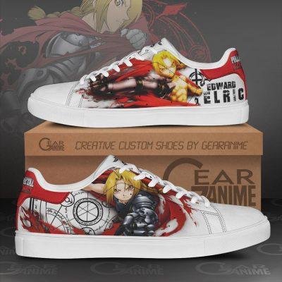 Edward Elric Skate Shoes Fullmetal Alchemist Custom Anime Shoes PN10 Men / US6 Official Fullmetal Alchemist  Merch