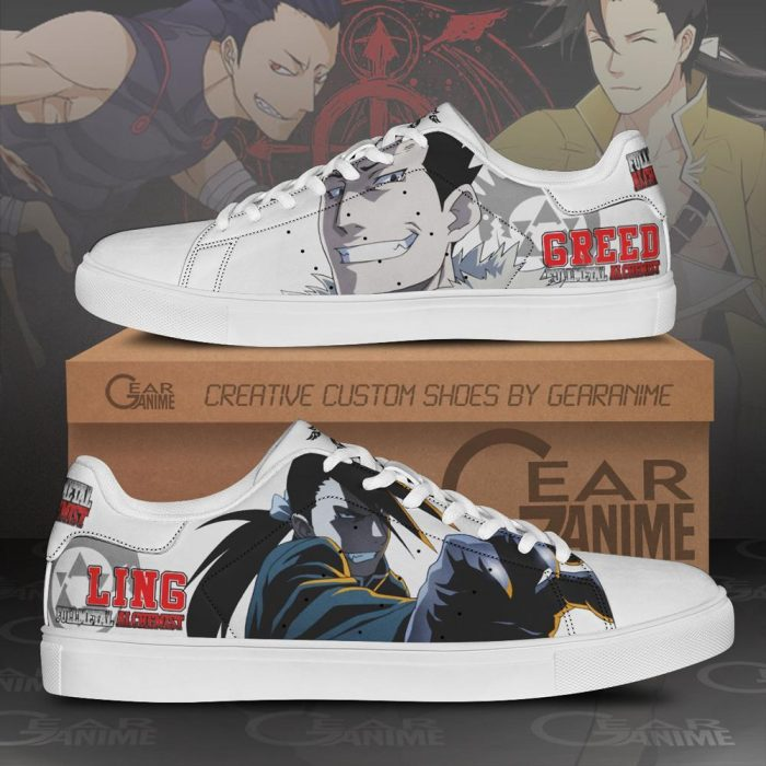 Greed Ling Skate Shoes Fullmetal Alchemist Custom Anime Shoes PN10 Men / US6 Official Fullmetal Alchemist  Merch