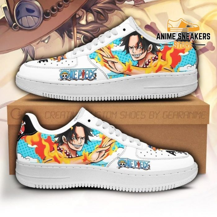 Ace Sneakers Custom One Piece Anime Shoes Fan Pt04 Men / Us6.5 Air Force