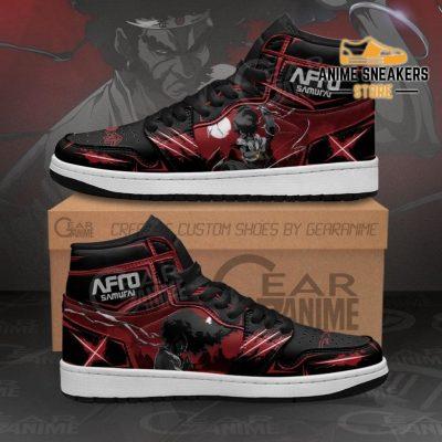 Afro Samurai Sneakers Black Red Custom Anime Shoes Mn11 Men / Us6.5 Jd