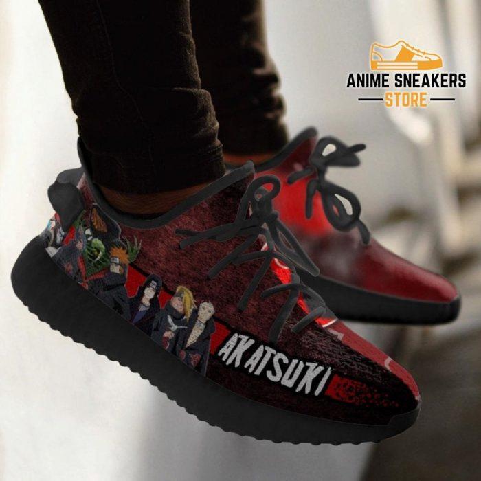 Akatsuki Clan Yeezy Shoes Naruto Anime Sneakers Fan Tt03