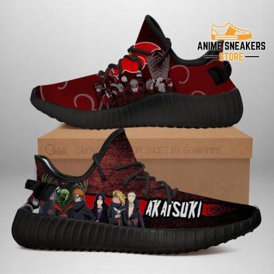 Akatsuki Clan Yeezy Shoes Naruto Anime Sneakers Fan Tt03 Men / Us6