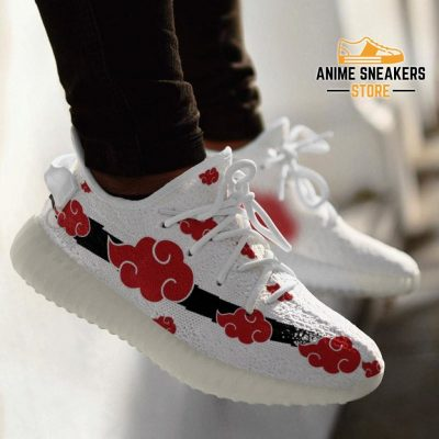 Akatsuki Cloud Shoes White Naruto Anime Sneakers Yeezy