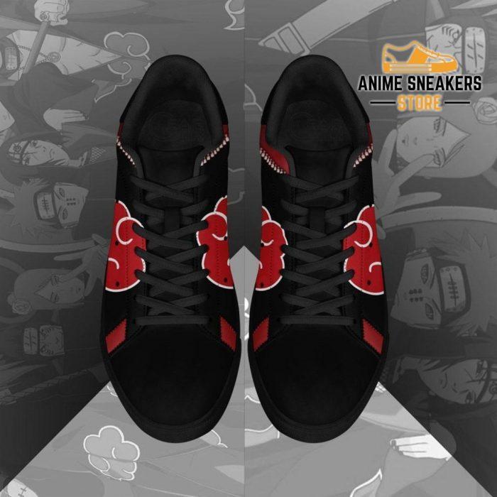 Akatsuki Cloud Skate Shoes Black Naruto Anime Custom Pn09