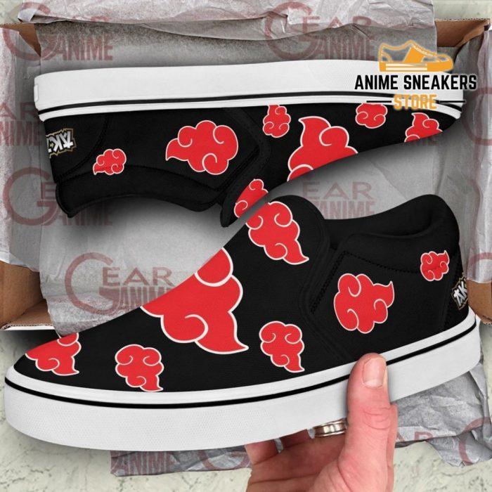 Akatsuki Cloud Slip On Shoes Naruto Custom Anime Pn12 Slip-On