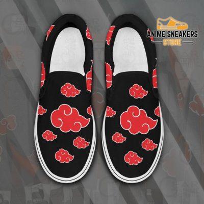 Akatsuki Cloud Slip On Shoes Naruto Custom Anime Pn12 Men / Us6 Slip-On