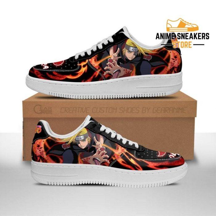 Akatsuki Deidara Sneakers Custom Naruto Anime Shoes Leather Men / Us6.5 Air Force