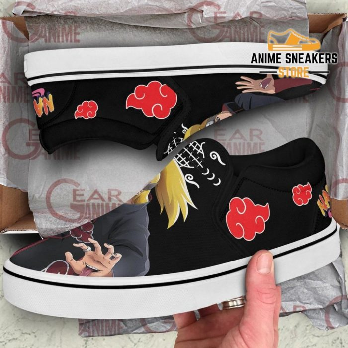 Akatsuki Deidara Slip On Shoes Naruto Custom Anime Pn12 Slip-On
