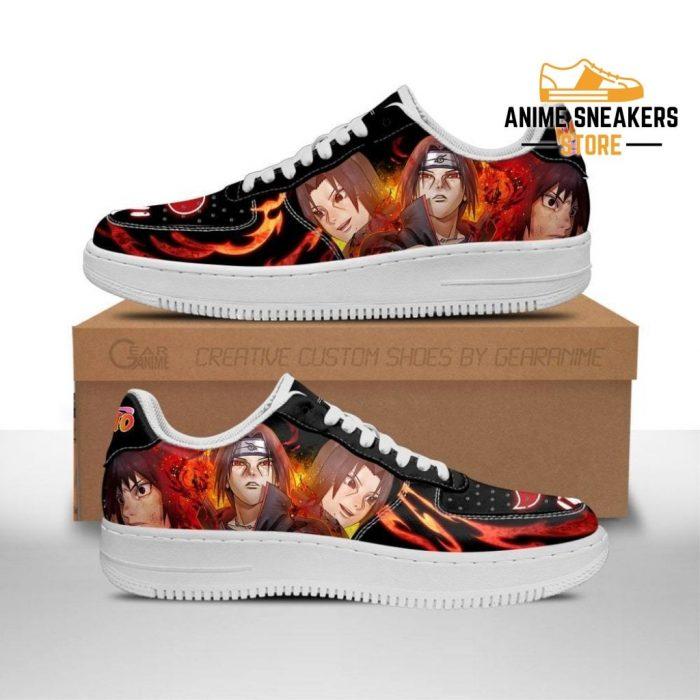 Akatsuki Itachi Sneakers Custom Naruto Anime Shoes Leather Men / Us6.5 Air Force