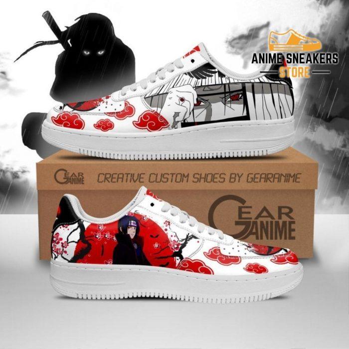 Akatsuki Itachi Sneakers Naruto Anime Custom Shoes Pt10 Men / Us6.5 Air Force
