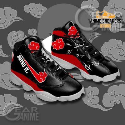 Akatsuki Jutsu It Sneakers Naruto Anime Custom Shoes Jd13