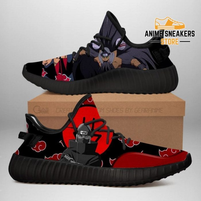 Akatsuki Kazuku Yeezy Shoes Naruto Anime Sneakers Fan Tt03 Men / Us6