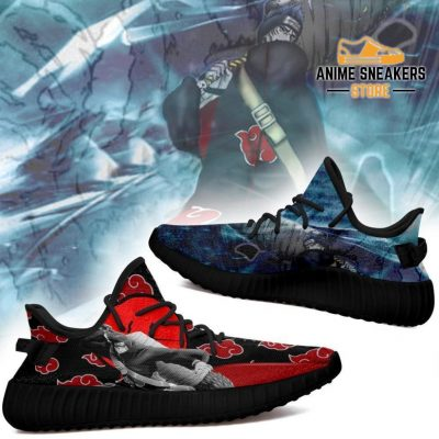 Akatsuki Kisame Yeezy Shoes Naruto Anime Sneakers Fan Tt03