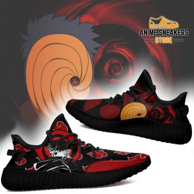 Akatsuki Obito Yeezy Shoes Naruto Anime Sneakers Fan Tt03