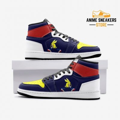 All Might My Hero Academia Custom J-Force Shoes 3 / White Mens