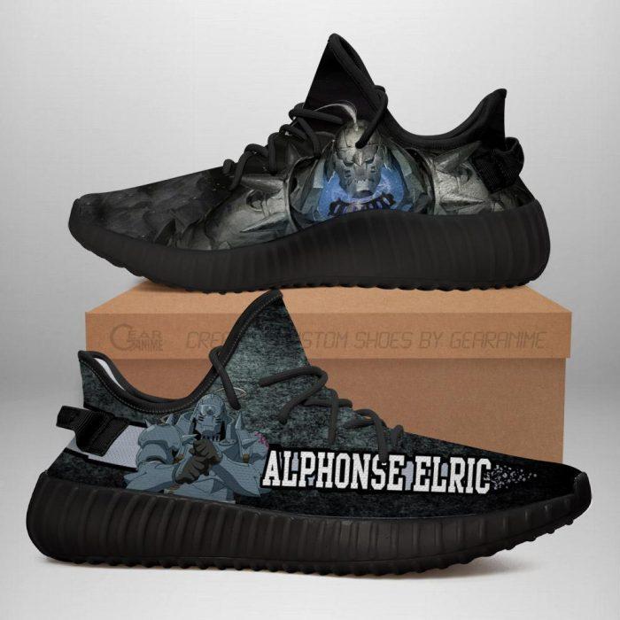 Alphonse Elric Yeezy Shoes Fullmetal Alchemist Anime Sneakers Fan Gift Idea TT05 Men / US6 Official Fullmetal Alchemist  Merch