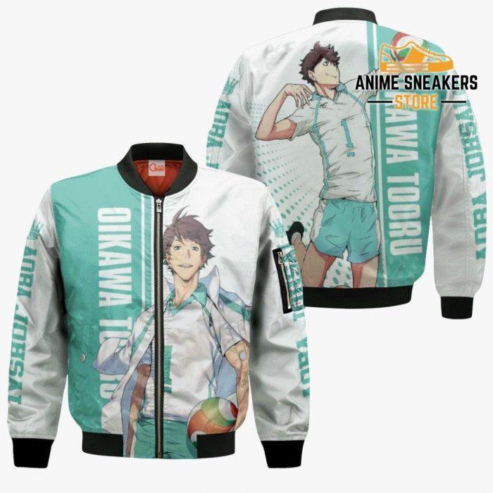 Aoba Johsai Oikawa Tooru Hoodie Haikyuu Custom Anime Shirt Bomber Jacket / S All Over Printed Shirts