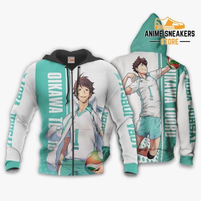 Aoba Johsai Oikawa Tooru Hoodie Haikyuu Custom Anime Shirt Zip / S All Over Printed Shirts