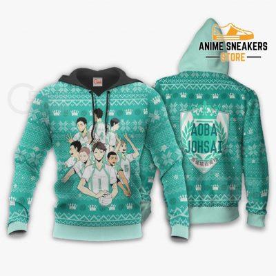 Aoba Johsai Ugly Christmas Sweater Haikyuu Anime Xmas Shirt Va10 Hoodie / S All Over Printed Shirts
