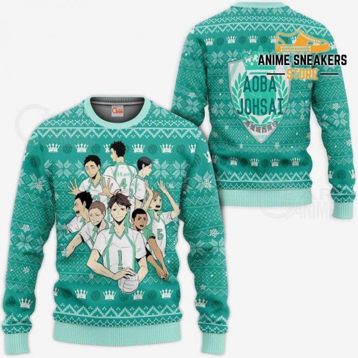 Aoba Johsai Ugly Christmas Sweater Haikyuu Anime Xmas Shirt Va10 / S All Over Printed Shirts