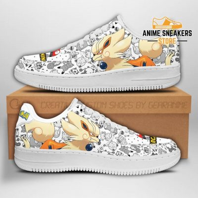 Arcanine Sneakers Pokemon Shoes Fan Gift Idea Pt04 Men / Us6.5 Air Force