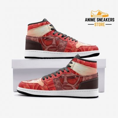 Colossal Titan Attack On Custom J-Force Shoes 3 / White Mens