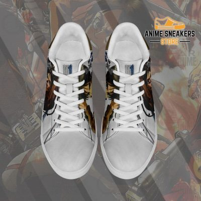 Eren Jeager Skate Sneakers Attack On Titan Anime Shoes Pn10