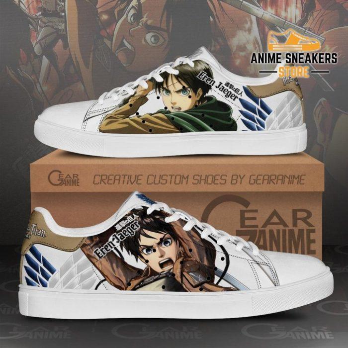 Eren Jeager Skate Sneakers Attack On Titan Anime Shoes Pn10 Men / Us6