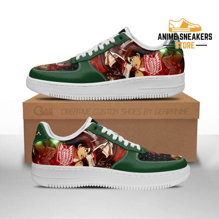 Eren Yeager Attack On Titan Sneakers Aot Anime Shoes Men / Us6.5 Air Force