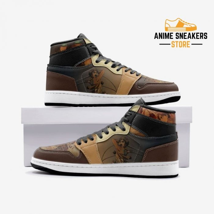 Eren Yeager Attack On Titan Custom J-Force Shoes 3 / White Mens