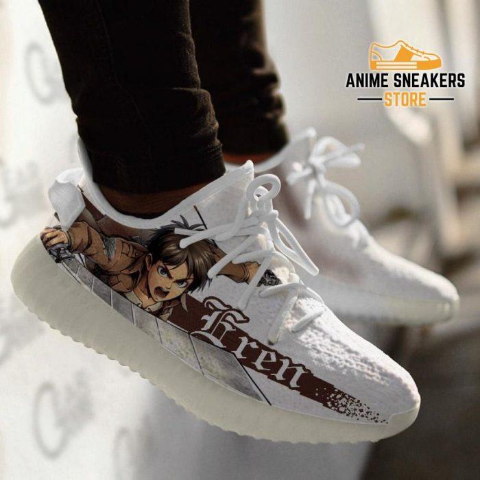 Eren Yeager Shoes Attack On Titan Custom Anime Sneakers Tt10 Yeezy