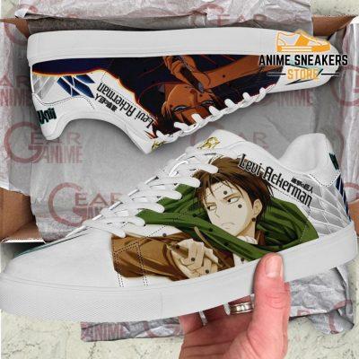 Levi Ackerman Skate Sneakers Attack On Titan Anime Shoes Pn10