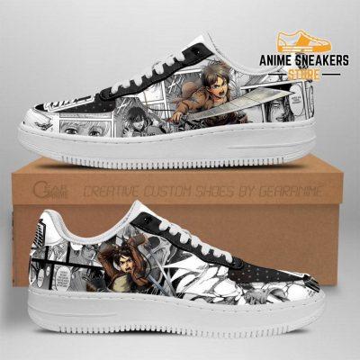 Attack On Titan Sneakers Manga Anime Shoes Fan Gift Idea Tt04 Men / Us6.5 Air Force