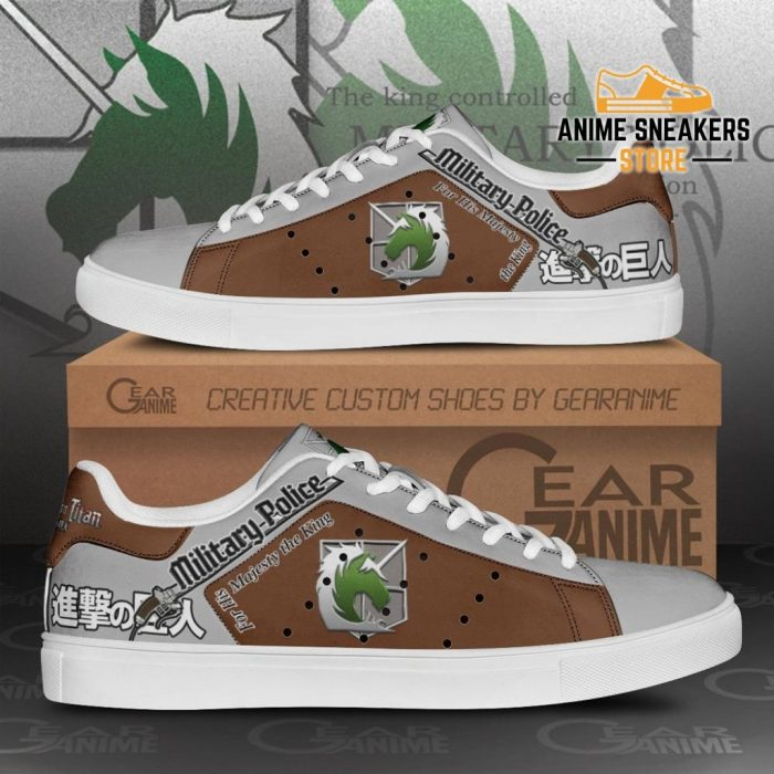Military Police Skate Sneakers Uniform Attack On Titan Anime Shoes Pn10 Men / Us6