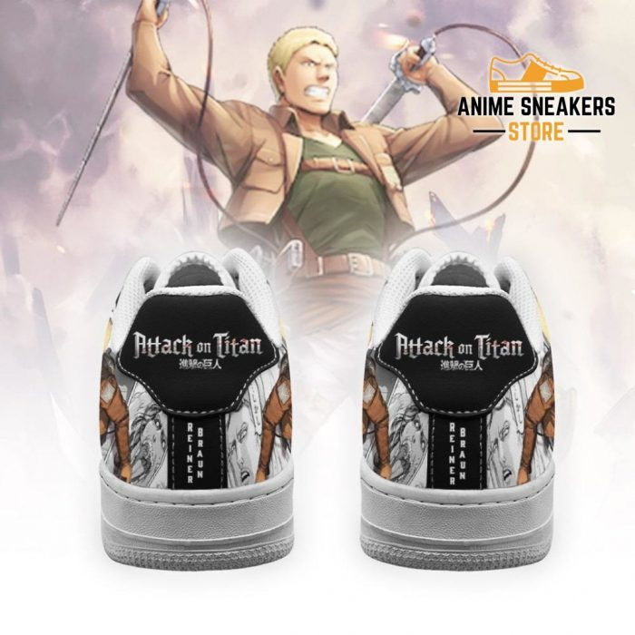 Aot Reiner Sneakers Attack On Titan Anime Manga Shoes Air Force