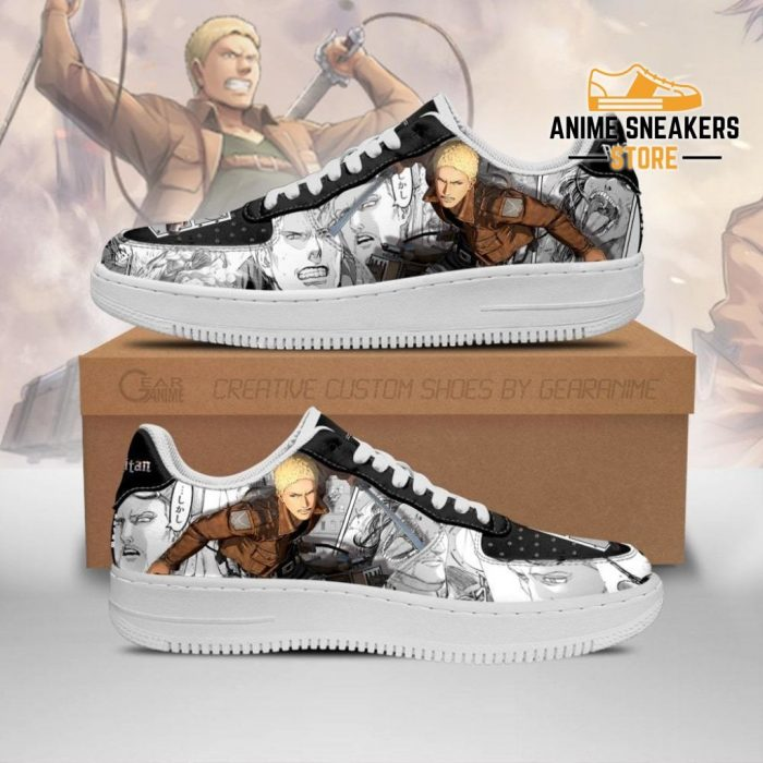 Aot Reiner Sneakers Attack On Titan Anime Manga Shoes Men / Us6.5 Air Force