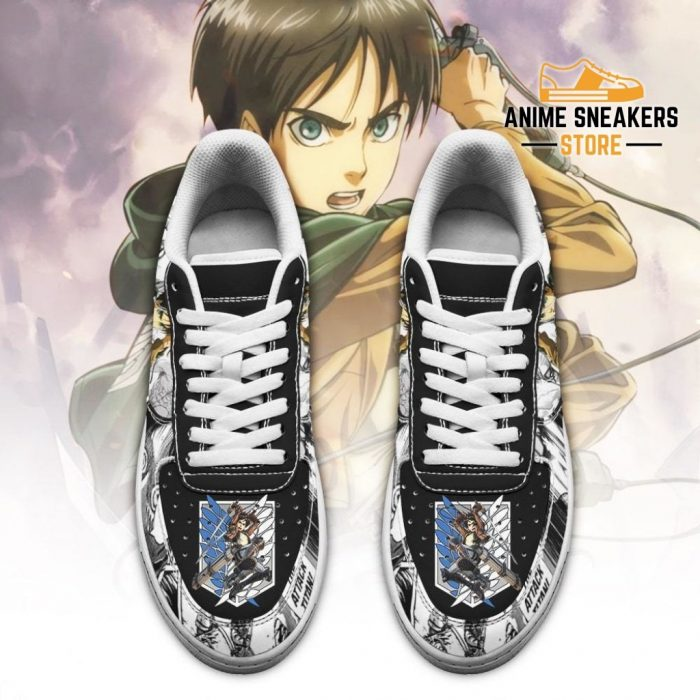 Aot Scout Eren Sneakers Attack On Titan Anime Shoes Mixed Manga Air Force
