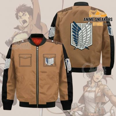 Attack On Titan Scout Jacket Cloak Costume Anime Shirt Bomber / S All Over Printed Shirts