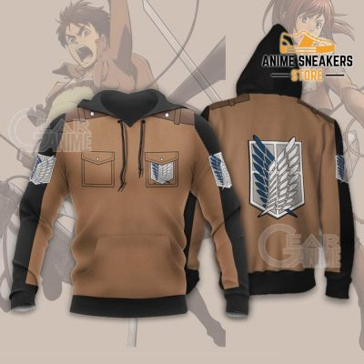 Attack On Titan Scout Jacket Cloak Costume Anime Shirt Hoodie / S All Over Printed Shirts
