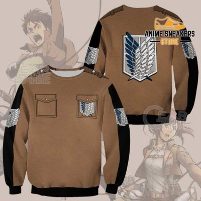 Attack On Titan Scout Jacket Cloak Costume Anime Shirt Sweater / S All Over Printed Shirts