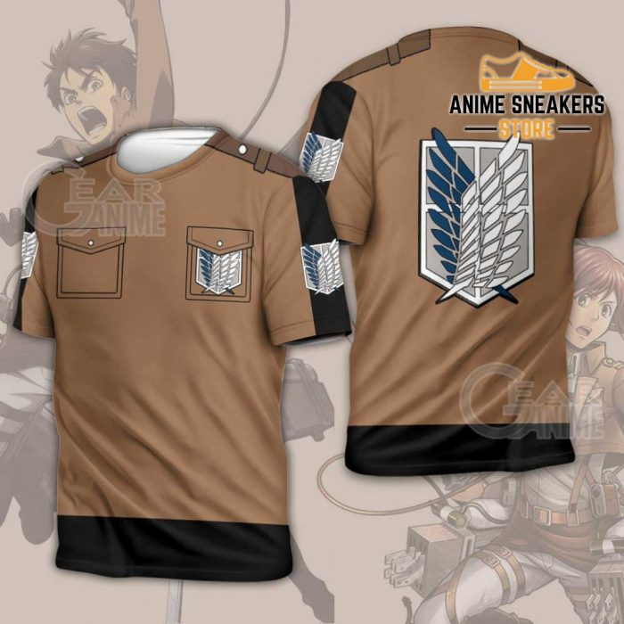 Attack On Titan Scout Jacket Cloak Costume Anime Shirt T-Shirt / S All Over Printed Shirts
