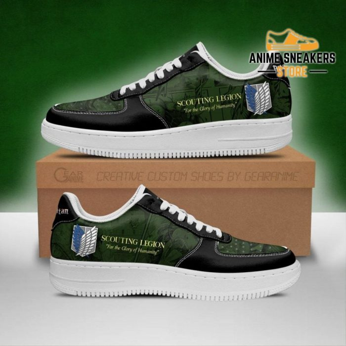 Aot Scout Regiment Slogan Sneakers Attack On Titan Anime Shoes Men / Us6.5 Air Force