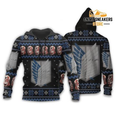Attack On Titan Shirt Scout Ugly Christmas Sweater Jacket Costume Hoodie / S All Over Printed Shirts