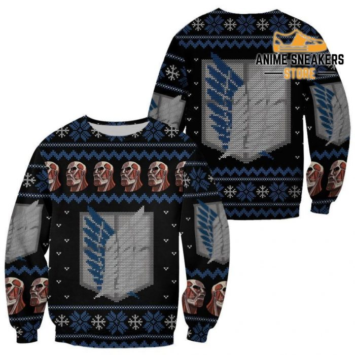 Attack On Titan Shirt Scout Ugly Christmas Sweater Jacket Costume / S All Over Printed Shirts