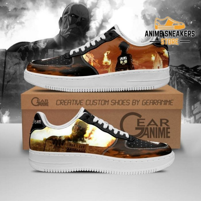 Attack On Titan Shoes Aot Anime Custom Pt10 Men / Us6.5 Air Force
