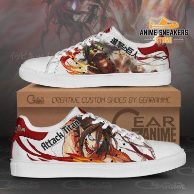 Eren Titan Skate Sneakers Uniform Attack On Anime Shoes Pn10 Men / Us6