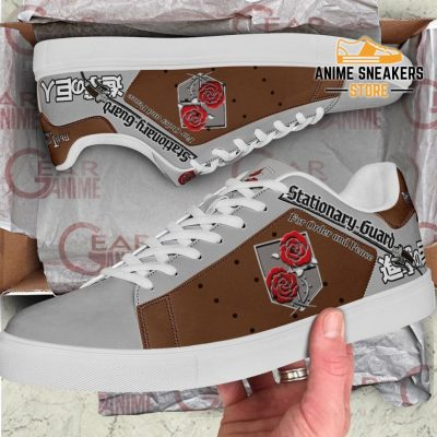 Stationary Guard Skate Sneakers Uniform Attack On Titan Anime Shoes Pn10