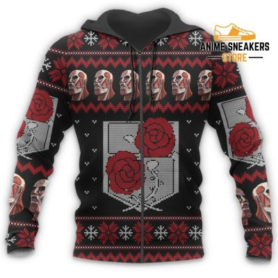 Attack On Titan Ugly Christmas Sweater Garrison Xmas Gift Custom Clothes All Over Printed Shirts