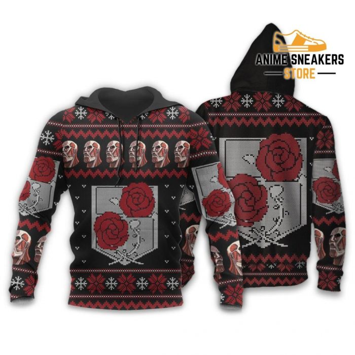 Attack On Titan Ugly Christmas Sweater Garrison Xmas Gift Custom Clothes Hoodie / S All Over Printed